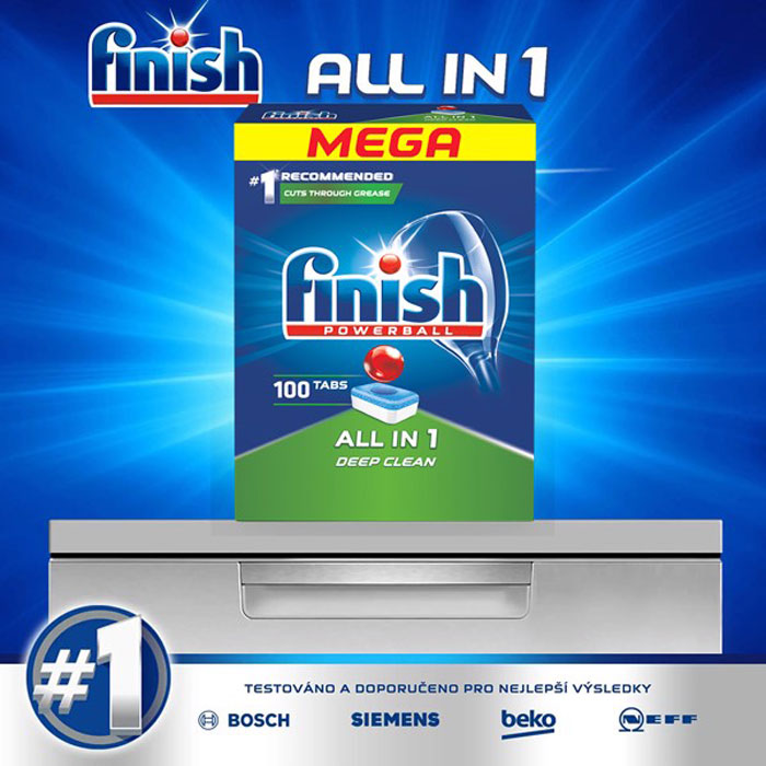 Finish All In 1 Dishwasher Tablets QT04592