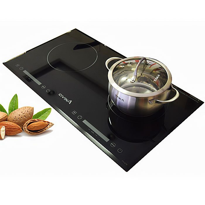 Bếp đôi điện từ hồng ngoại Civina CV-676 tặng hút mùi