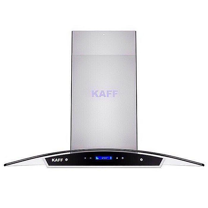 Máy hút khói khử mùi kính cong Kaff KF-GB029 ( Tặng bộ nồi cao cấp )