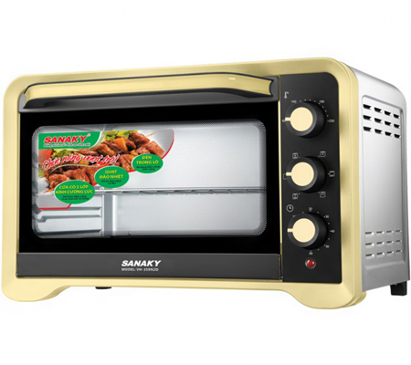 Lò nướng Sanaky VH-359N2D - 1600W 35L Vỏ Inox