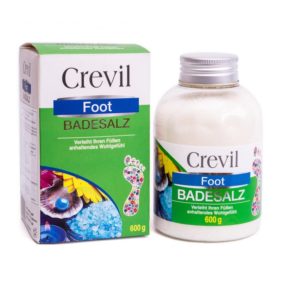 Muối ngâm chân cho người bị đau nhức xương khớp, mất ngủ Crevil Foot Badesalz 600g
