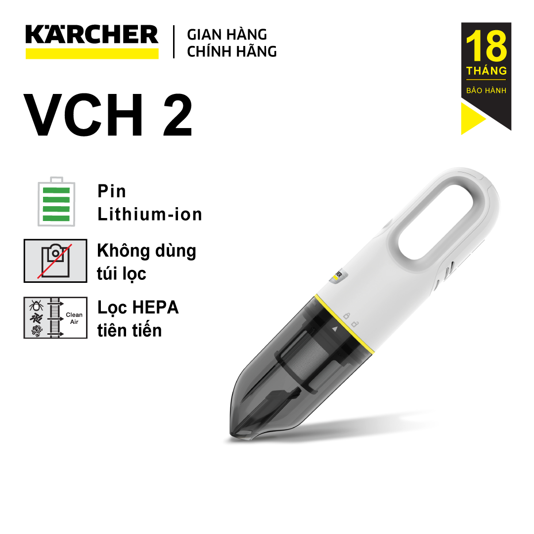 Máy hút bụi cầm tay chạy Pin Karcher VCH 2