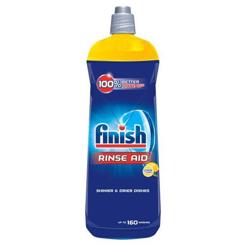 Nước làm bóng và khô chén, đĩa Finish Dishwasher Rinse Aid Shinier & Drier Dishes Lemon Sparkle 800ml QT004996 - hương chanh
