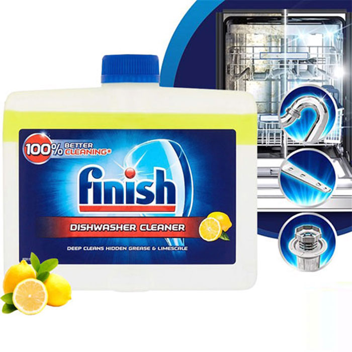 Dung dịch tẩy rửa máy rửa chén Finish Dishwasher Cleaner Lemon 250ml QT006774 - hương chanh