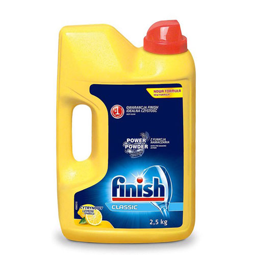 Bột rửa chén Finish Dishwasher Power Powder Lemon Sparkle 2,5 kg QT017384 - hương chanh