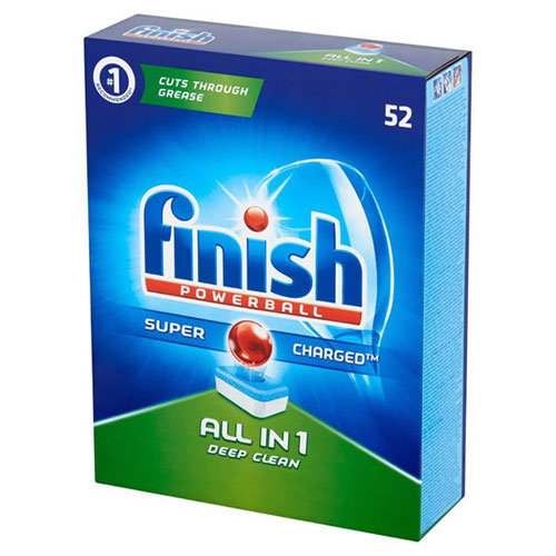 Hộp 52 viên rửa chén Finish All In 1 Dishwasher Tablets QT028268