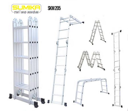 Thang nhôm gấp đa năng Sumika SKM 205