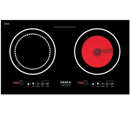 Bếp điện đôi từ và quang Osaka DQT100