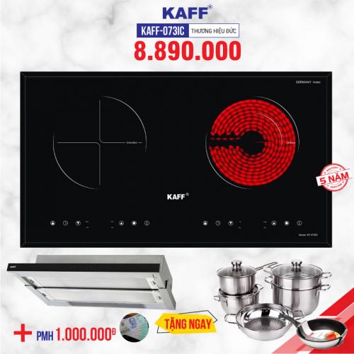 Bếp đôi hồng ngoại - điện từ Kaff KF-073IC