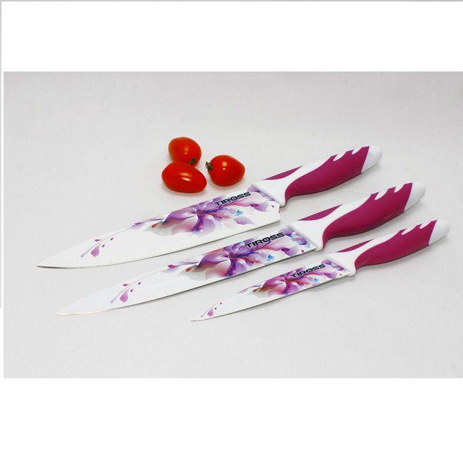 Bộ Dao Hoa Men Ceramic Tiross TS-1280
