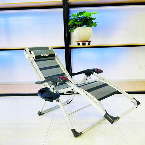 Ghế xếp thư giãn SUMIKA 199 - lăn tay massage, khung vuông cao cấp