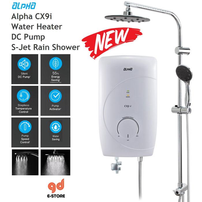 Máy tắm nước nóng Alpha CX9-E