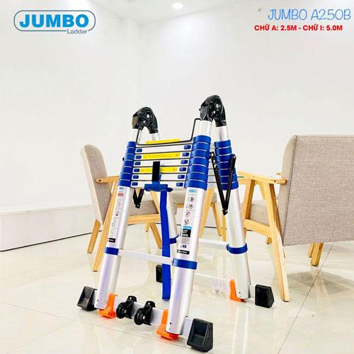 Thang rút nhôm chữ A cao cấp JUMBO A250B