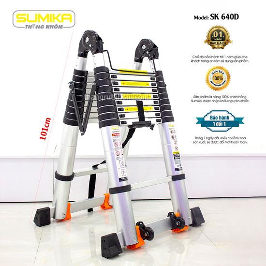 Thang nhôm rút đôi Sumika SK640D